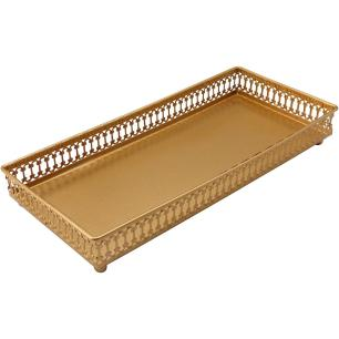 Bandeja 4X29X14Cm Metal Dourado Zaree