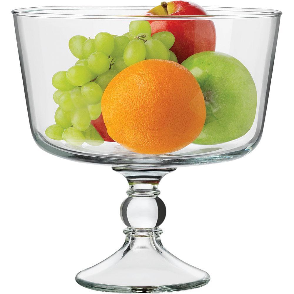 Fruteira Com Pé Vidro Transparente 3,5L Libbey Selene 23X22X22Cm