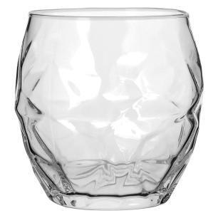 Copo Água Vidro Transparente 400Ml Bormioli Rocco Oriente 9X9X9Cm 3 Peças