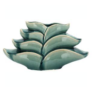 Vaso Cerâmica Verde Home&Co Scrat 22X37X11Cm