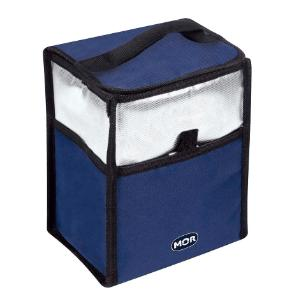 Bolsa Térmica Mor 5L Azul e Prata Multifuncional Marmita e Lancheira