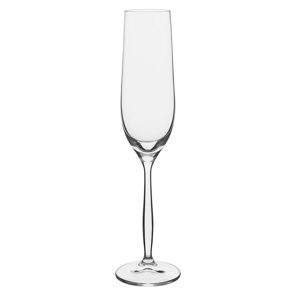Taça Champagne 6 peças Cristal Transparente 190Ml Bohemia Cindy 26X7X7Cm