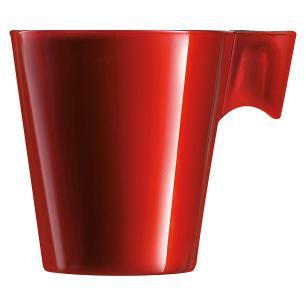 Xícara Vidro Vermelho 80Ml Luminarc Flashy Expresso 6X6X6Cm
