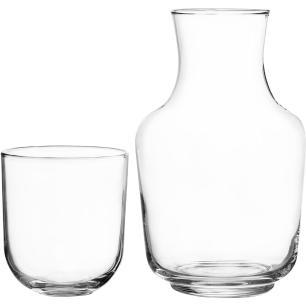 Jogo Jarra/Copo Vidro Transparente 1L/320Ml Crisa Córdoba 12X18X18Cm 2 Peças
