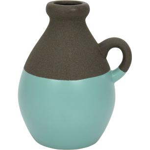 Vaso Cerâmica Azul Odin 20X14X16Cm