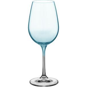 Taça Vinho 6 peças Cristal Verde 350Ml Bohemia Viola 22X9X9Cm
