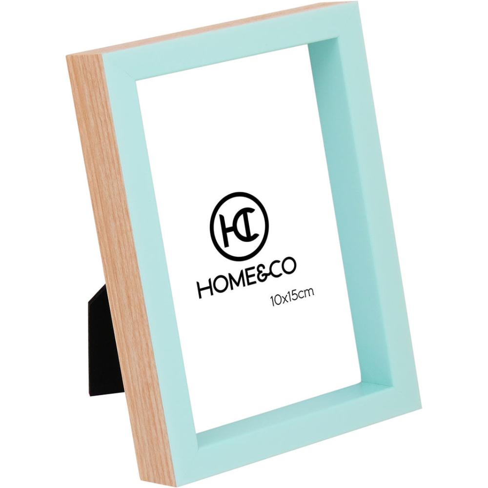 Porta-Retratos Plástico Azul 10X15 Home&Co Pujals 17X12X5Cm