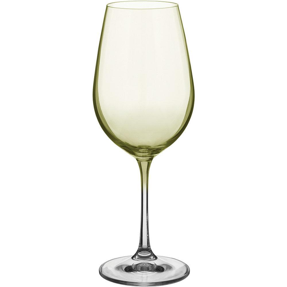 Taça Água 6 peças Cristal Ambar 450Ml Bohemia Viola 24X9X9Cm