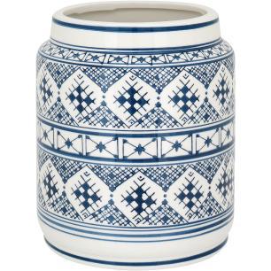 Vaso Cerâmica Azul Dacle 26X22X22Cm
