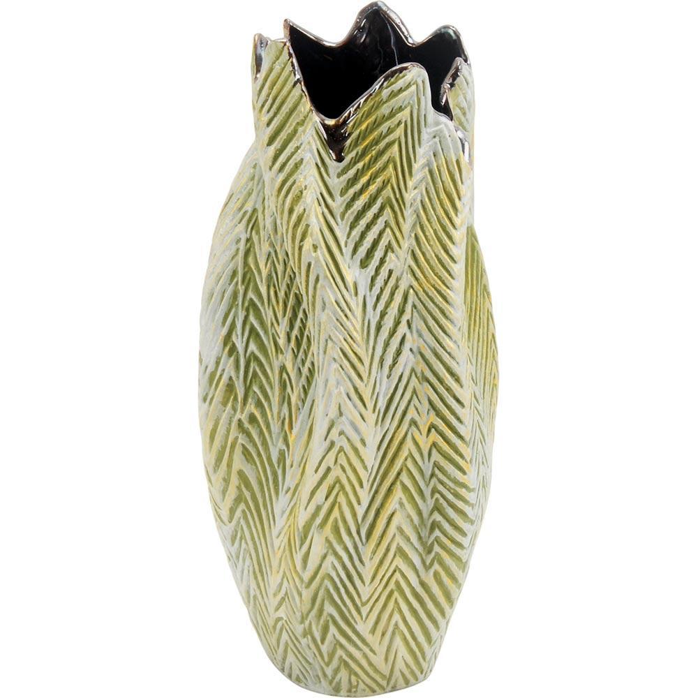 Vaso Cerâmica Verde Home&Co Albero 36X15X18Cm