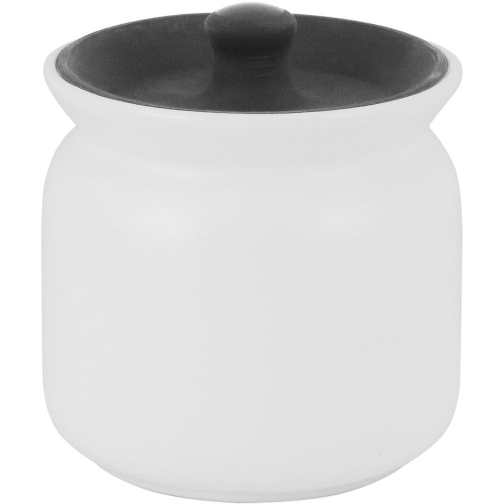 Pote Cerâmica Branco 450Ml Glow 10X11X11Cm