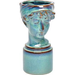 Vaso Cerâmica Azul Home&Co Nero 25X12X16Cm