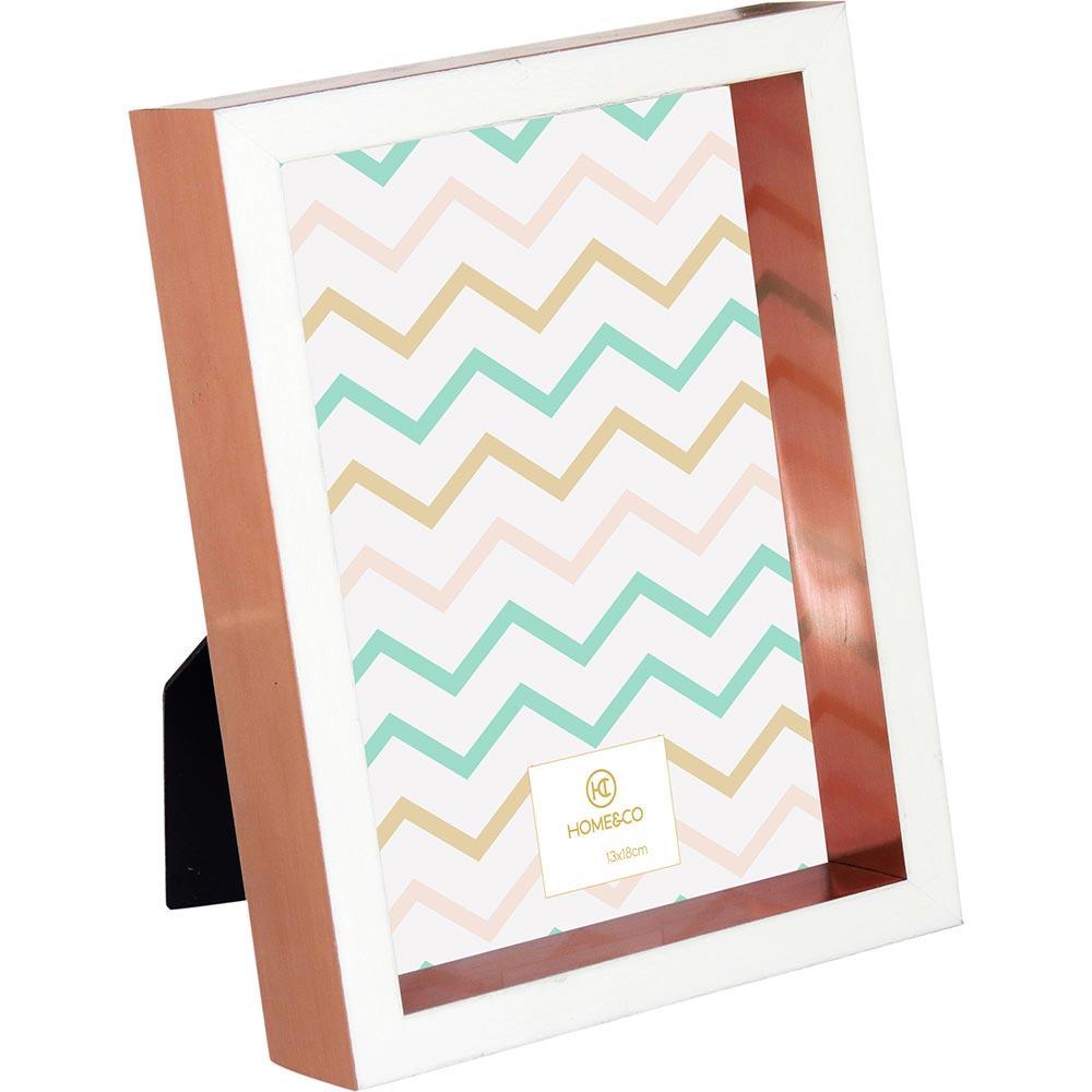 Porta-Retratos Plástico Cobre 13X18 Home&Co Valentino 20X15X4Cm