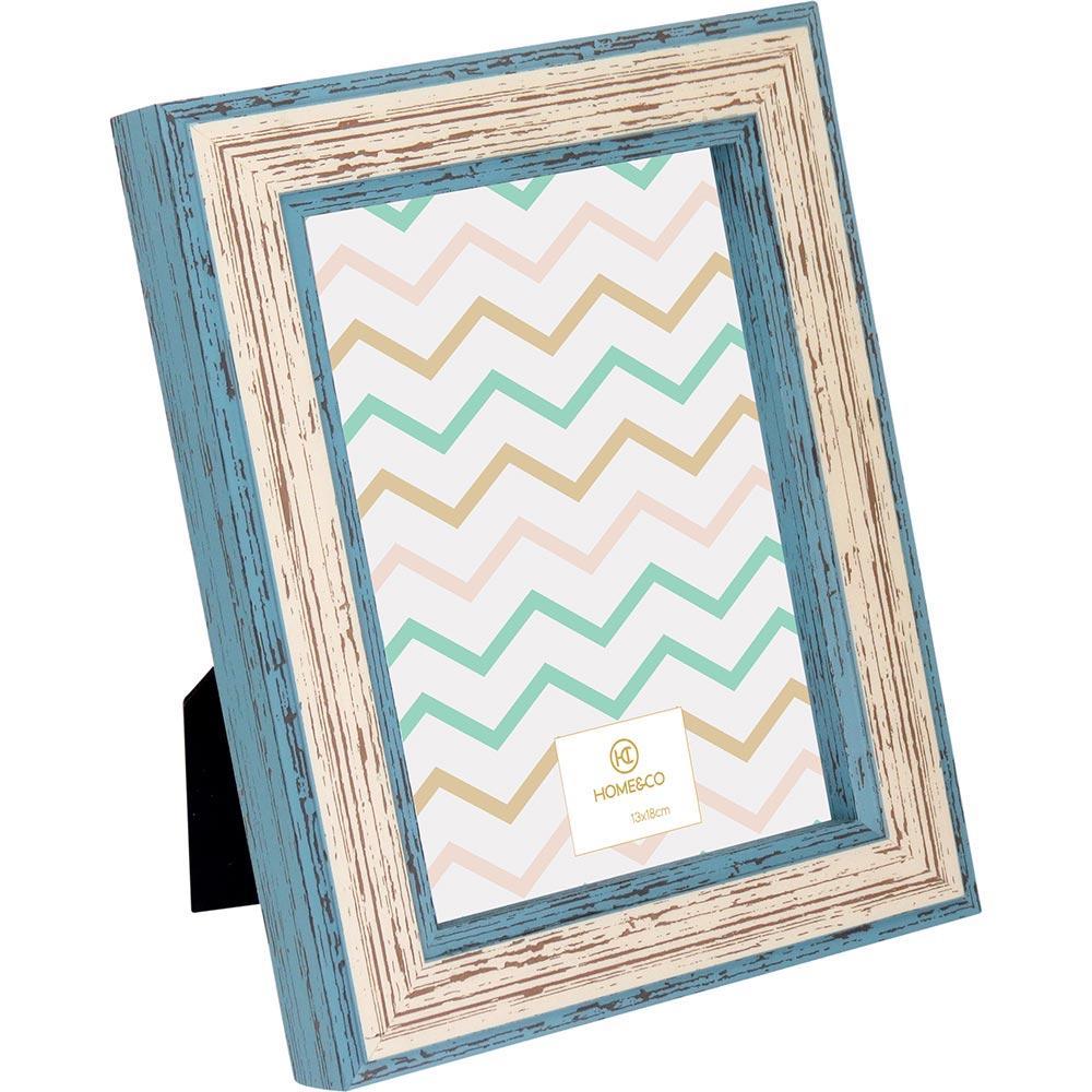 Porta-Retratos Plástico Azul 13X18 Home&Co Capri 23X18X3Cm