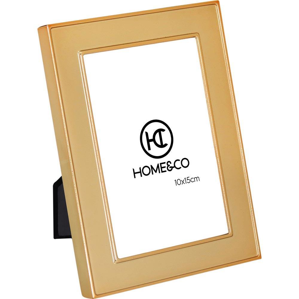 Porta-Retratos Metal Dourado 10X15 Home&Co Gloria 19X14X2Cm