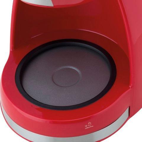 Cafeteira Elétrica Britânia CP15 550W 127V 600ml Inox Vermelha 15 Xícaras