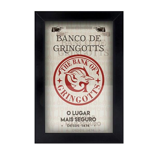 Cofre de Parede Gringotts  26x18cm em MDF