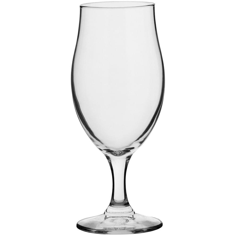 Taça Cerveja Vidro Transparente 260Ml Bormioli Rocco Executive 17X7X7Cm 3 Peças