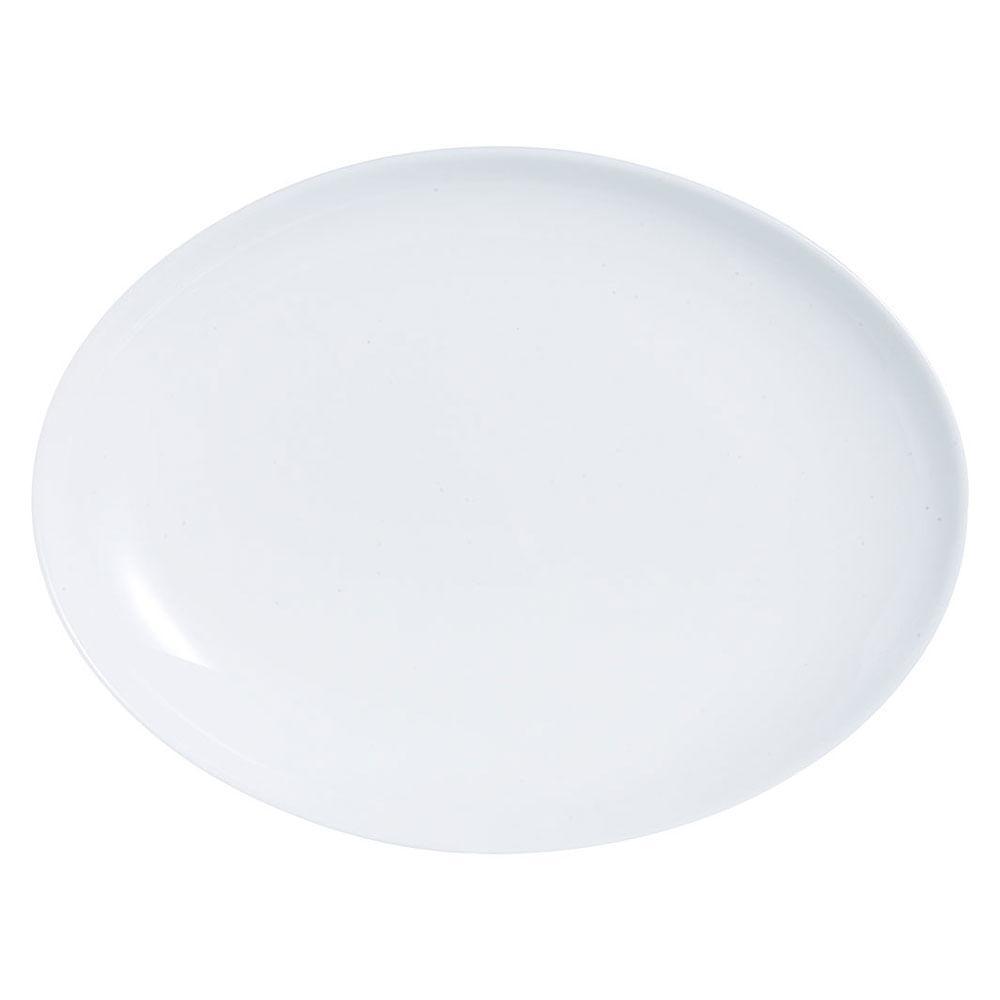 Prato Oval Vidro Temperado Branco Luminarc Diwali 3X25X33Cm