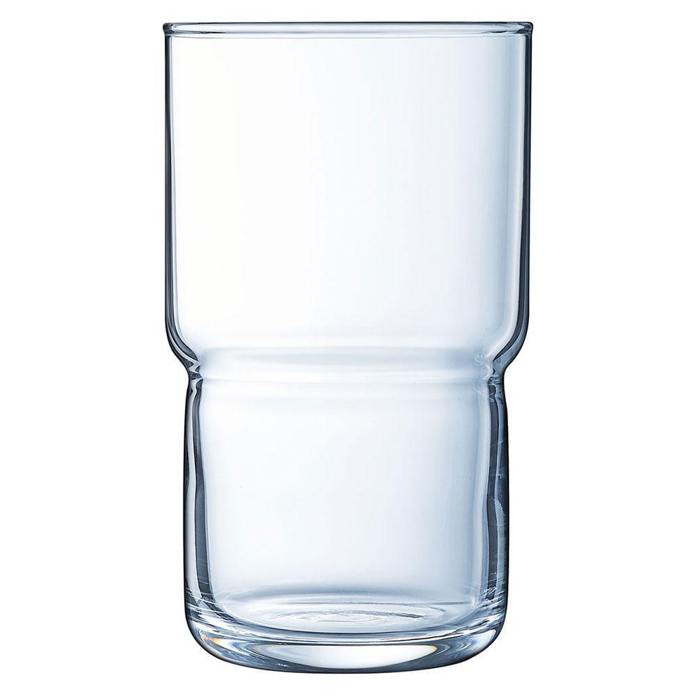 Copo Long Drink Vidro Temperado 320Ml Luminarc Funambule 12X7X7Cm 6 Peças