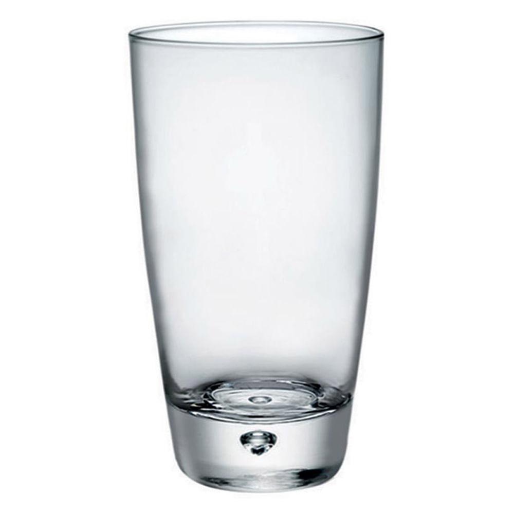 Copo Long Drink Vidro Transparente 350Ml Bormioli Rocco Luna 14X8X8Cm 3 Peças