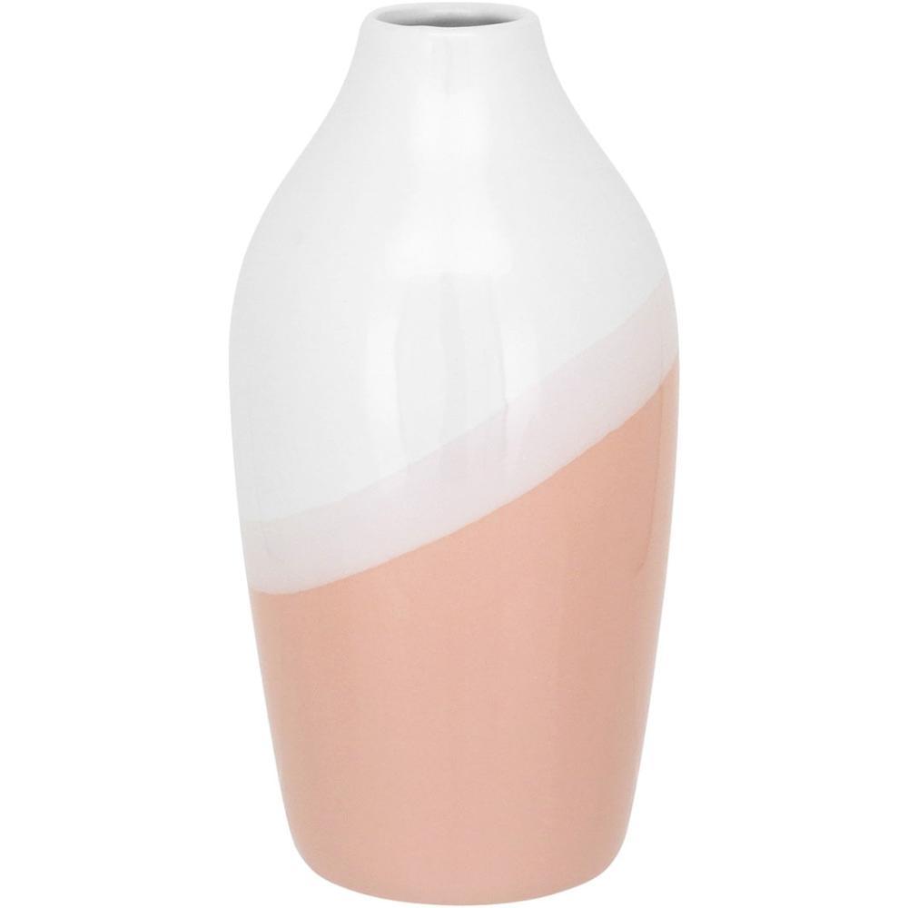 Vaso Cerâmica Rosa Daintree 22X11X11Cm