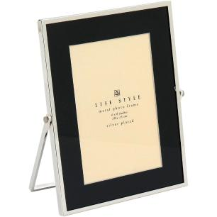 Porta-Retratos Metal Preto 10X15 Home&Co Osler 21X18X1Cm