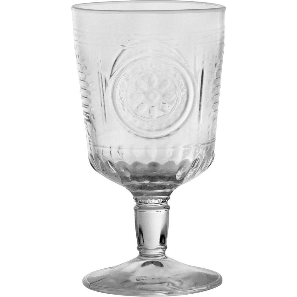 Taça Água Vidro Transparente 320Ml Bormioli Rocco Romantic 15X8X8Cm 6 Peças