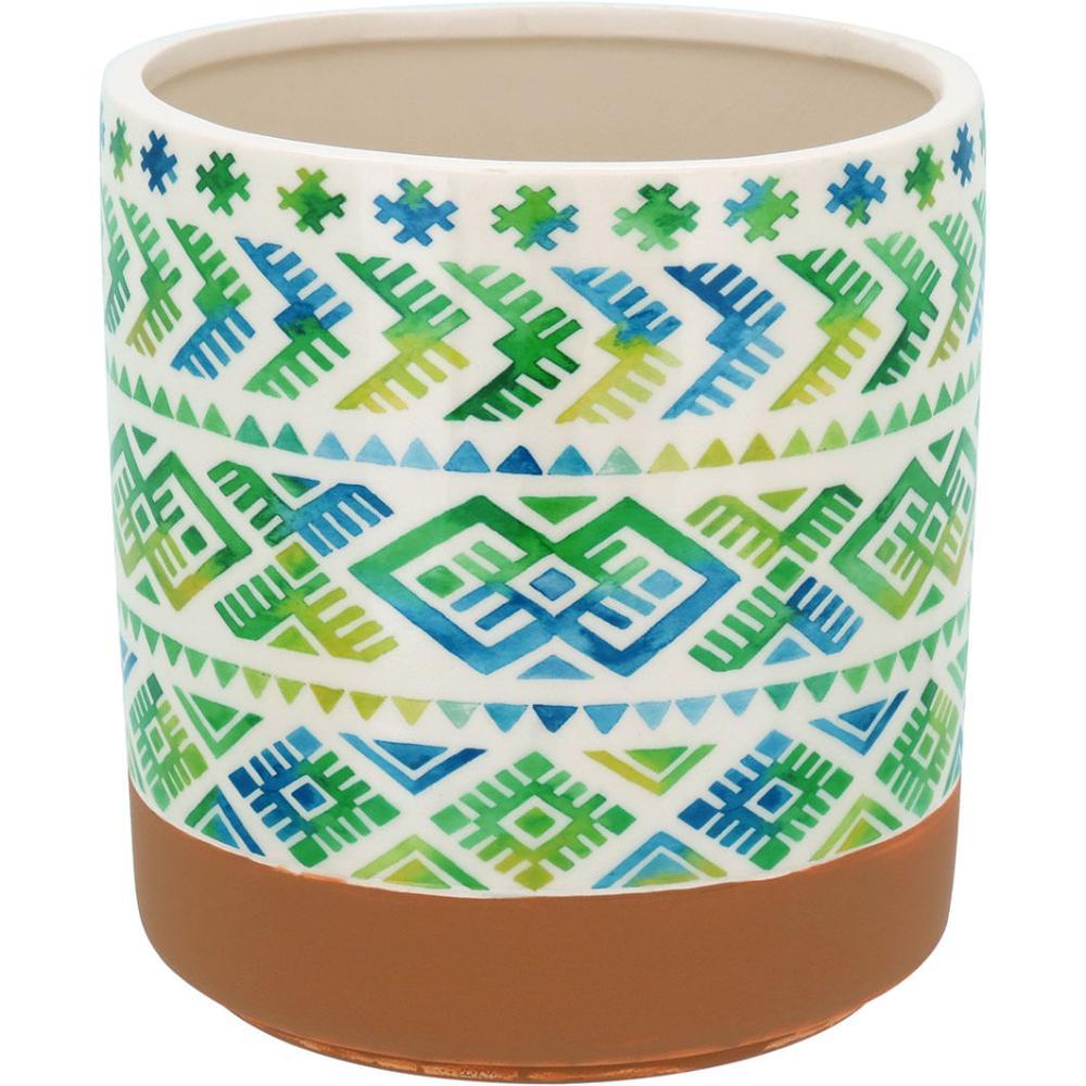 Cachepô Cerâmica Verde Guido 17X16X16Cm