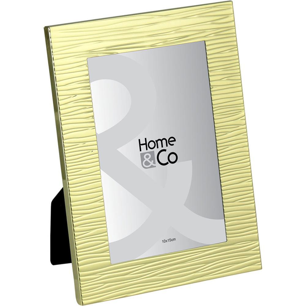 Porta-Retratos Metal Dourado 10X15 Home&Co March 19X14X1Cm