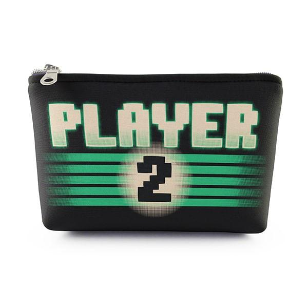 Necessaire Player 2 Verde 19x14cm Neoprene com Zíper