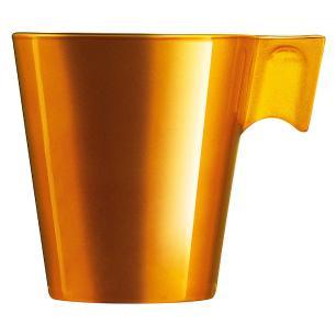 Xícara Vidro Dourado 80Ml Luminarc Flashy Expresso 6X6X6Cm