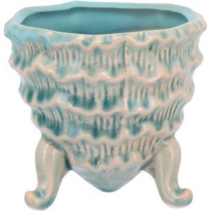 Cachepô Com Pé Cerâmica Azul Home&Co Fergie 9X9X9Cm