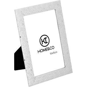 Porta-Retratos Metal Prata 10X15 Home&Co Fenice 18X12X1Cm