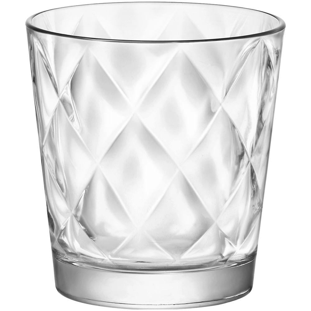 Copo Água Vidro Transparente 240Ml Bormioli Rocco Kaleido 9X8X8Cm 6 Peças
