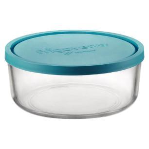 Pote Tampa Vidro Transparente 1,2L Bormioli Rocco Frigover 7X18X18Cm