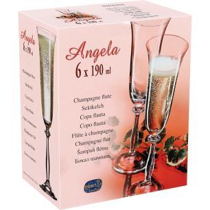 Taça Champanhe Cristal Transparente 190Ml Bohemia Angela 25X7X7Cm