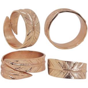 Anel Guardanapo 4 peças Metal Cobre Home&Co 2X5X5Cm