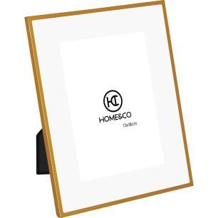Porta-Retratos Metal Dourado 13X18 Home&Co Larson 24X19X1Cm
