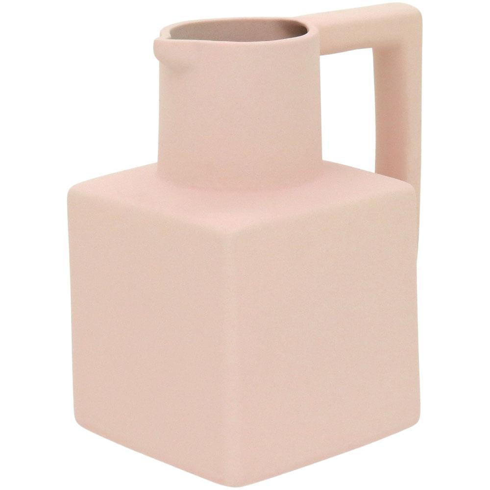 Vaso 14X13X10Cm Cerâmica Rosa Shape