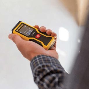 Trena a Laser Stanley TLM50 Até 15 metros Amarelo e Preto Tela LCD