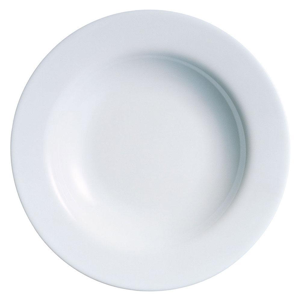 Prato Fundo Vidro Temperado Branco Luminarc Evolution 3X22X22Cm 6 Peças