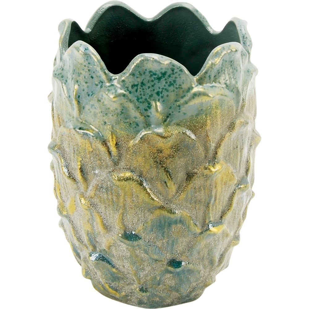 Vaso Cerâmica Verde Home&Co Chryso 19X14X14Cm