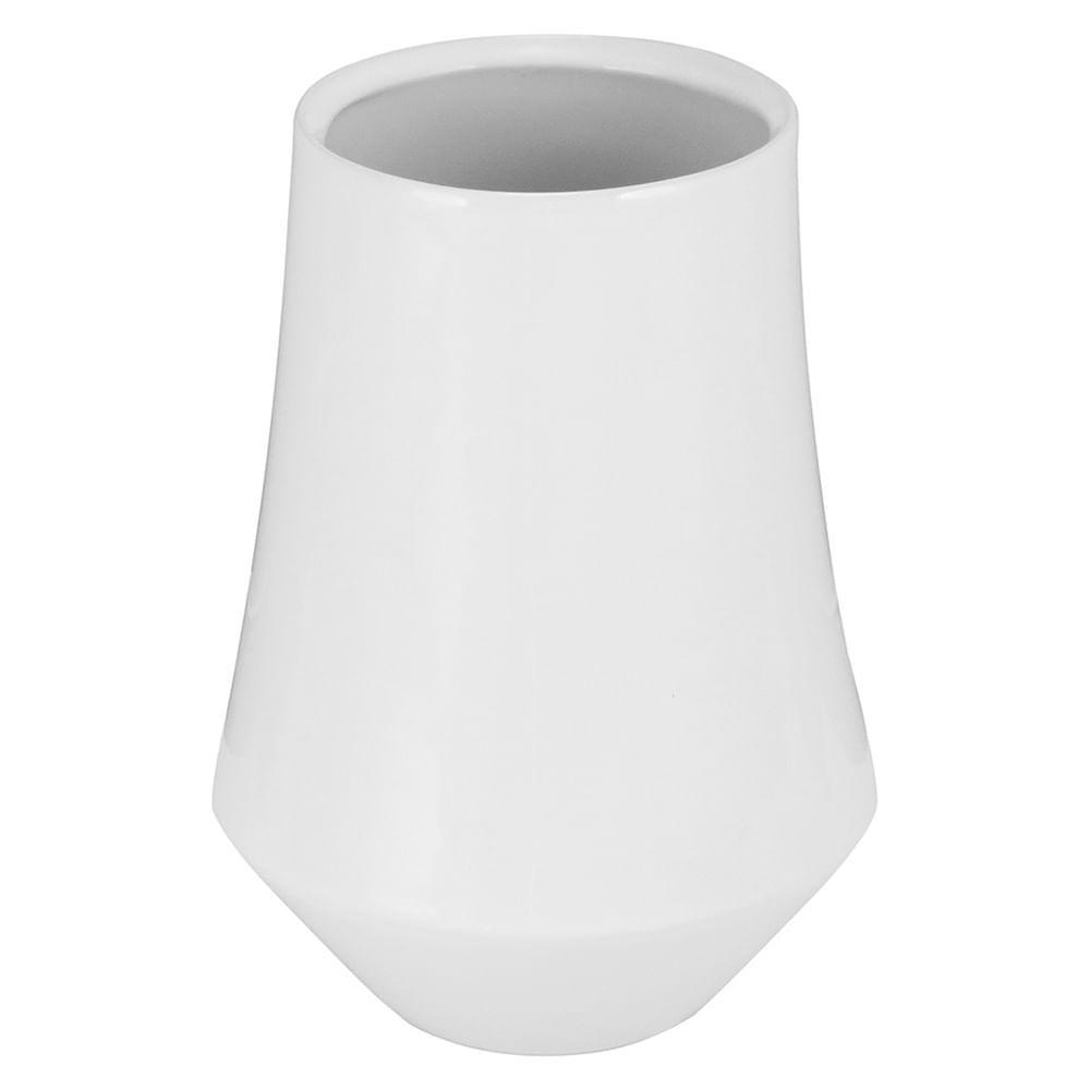 Vaso Cerâmica Branco Hover 21X15X15Cm