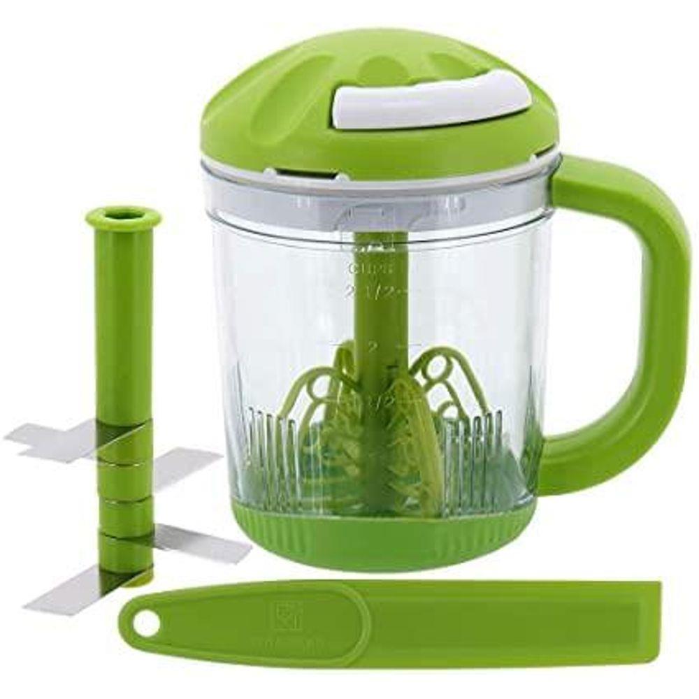 Mini Processador de Alimentos Cooper 15cm 625ml Verde Plástico e Inox 4 Peças