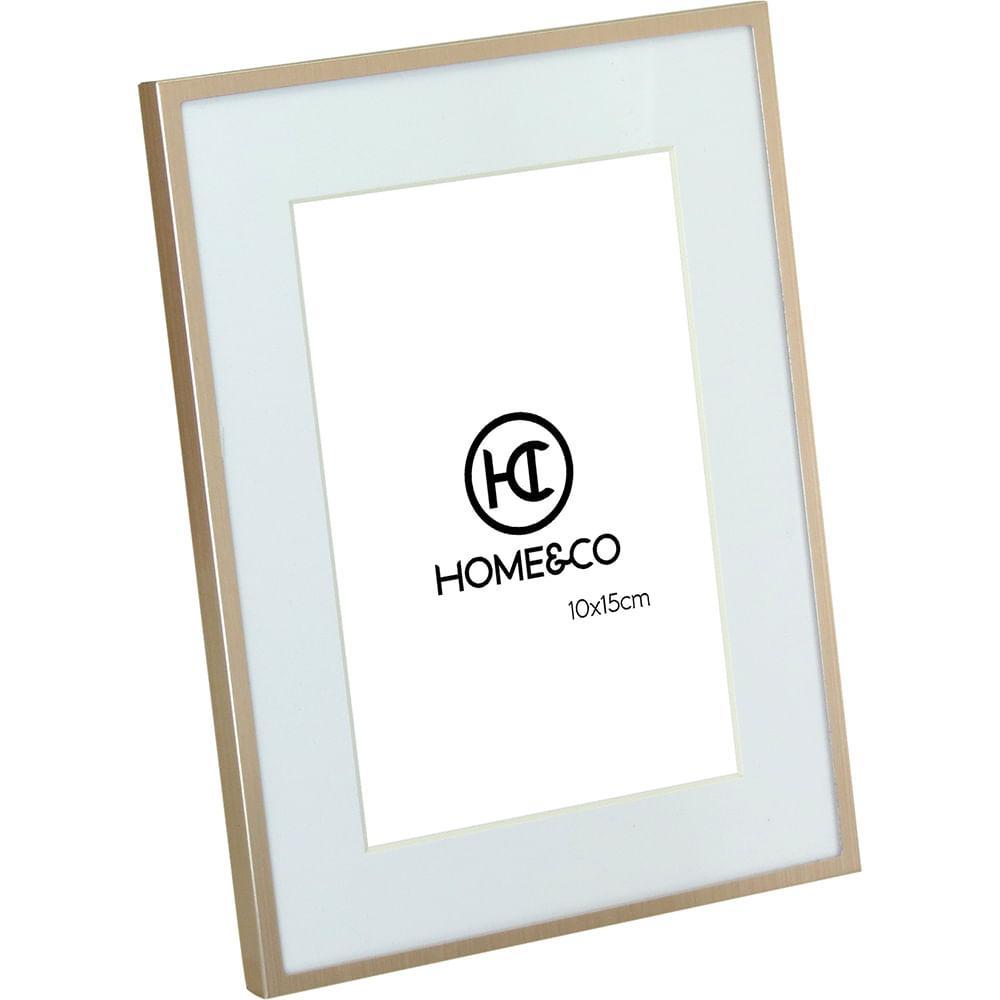 Porta-Retratos Alumínio Rosé 10X15 Home&Co Larson 21X15X1Cm