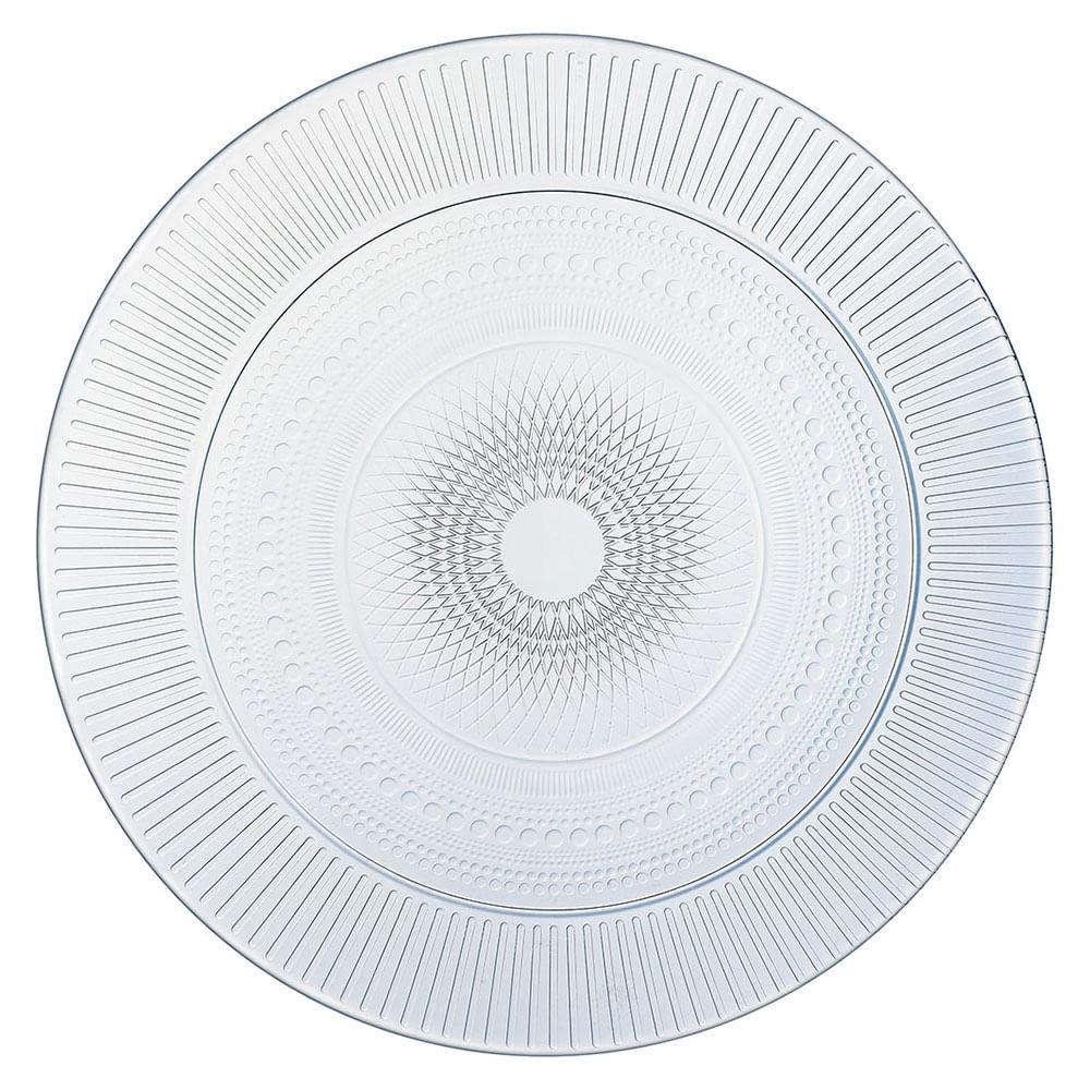 Prato Sobremesa Vidro Temperado Transparente Luminarc Louison 2X19X19Cm