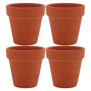 Vaso Natural 4 peças Clay Terracota 6X7X7Cm