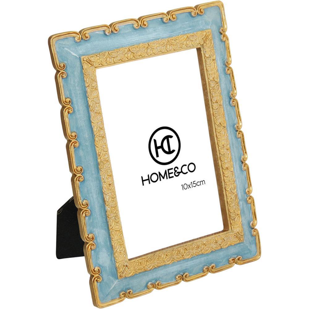 Porta-Retratos Resina Azul 10X15 Home&Co Carole 20X15X2Cm