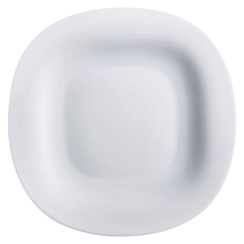 Prato Raso Vidro Temperado Branco Luminarc Carine 3X27X27Cm